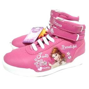 Zapatillas Princesas Disney Con Luz Mundo Moda Kids