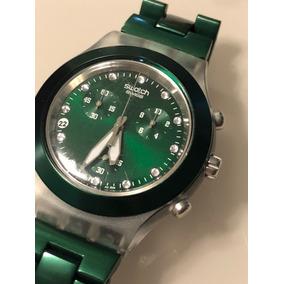 b290538b89f Relógio De Pulso Feminino Swatch Diaphane Cristais Swarovski ...