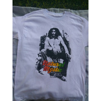 Playera Reggae Style M/c De Doble Estampado De Bob Marley