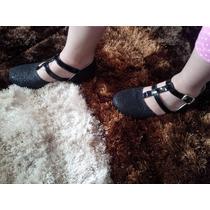 Zapatos Flats Niña Negros Mk Envió Gratis