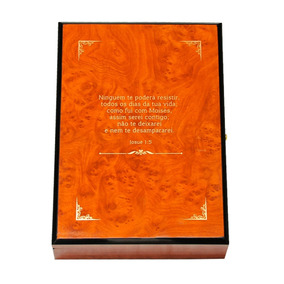 Bíblia Sagrada Com As Anotações Do Bp Macedo Caixa De Madeir