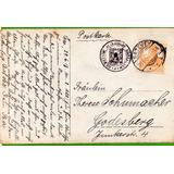 1° Guerra Alemania 1918 Postkarte Castillo De Satzvey - 369