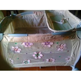 Corral Usado Con Aplicaciones De Flores Marca Gama Baby