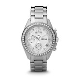 Reloj Mujer Fossil Es2681 Cronografo Calendario Wr 100 Mts