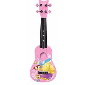 Guitarra Color Rosa De Princesas Para Niñas Marca Disney.