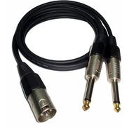 Cable  Canon Xlr Macho Balanceado A 2 Plug 6,5mm Mono L Y R
