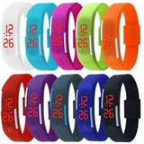 Reloj Pulsera Digit Led Silic Deport Unisex Color 10 Un Ofer