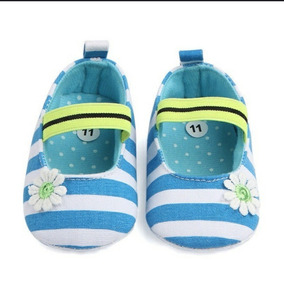 Sapatinho Bebê Importado Roupa Calçado Listras Azuis