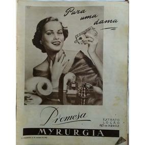 Propaganda Antiga Década 1950 Extrato Loção Promesa Myrurgia