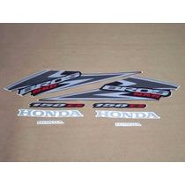 Kit Adesivos Faixas Honda Nxr 150 Es Bros - Preta - 2006