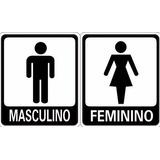 Placas Sinalizacao Banheiro Sanitário Masculino E Femininino