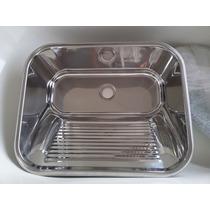 Tanque Lavar Roupas Inox 304 Ref:10.04.20430 63,5x53x25cm