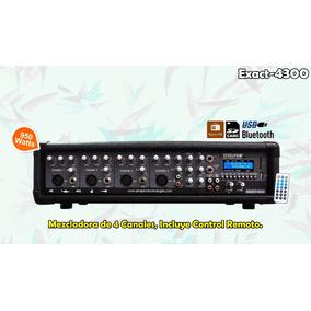 Mezcladora Amplificada 4ch Con Radio,bluetooth,usb Steelpro.