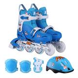 Kit Roller Extensible Aluminio 34-37 Azul Art.831 Edad +6 Añ