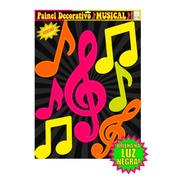 Painel Decorativo Musical Neon