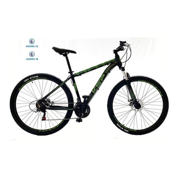 Bicicleta Mountain Bike Rodado 29 Ksp Aluminio Shimano 21 Cambios Suspensión Bloqueo Freno A Disco Cuotas Envío Gratis