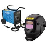 Soldadora Gamma 3466g Turbo 220 Mas Máscara Fotosensible