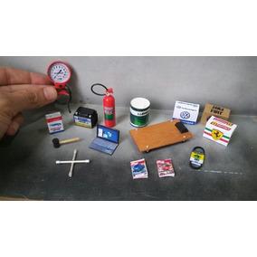 Acessórios Para Diorama Oficina Mecânica Miniatura Maquete