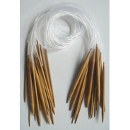 Agujas Circulares De Tricot De Bambú De 80 Cm.