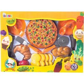 Brinquedo Belfix Brincando De Casinha Kit Comidinhas E Pizza