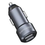 Cargador De Auto Usb Puerto Dual Ravpower 24w 4.8a Aluminio