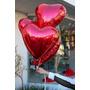 Balão Metalizado Coração 45 Cm Festa Bexigas Com 10