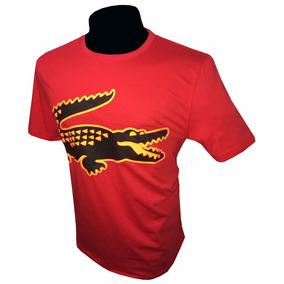 Remera Lacoste Big Aligator Importada Algodón Peruano Color