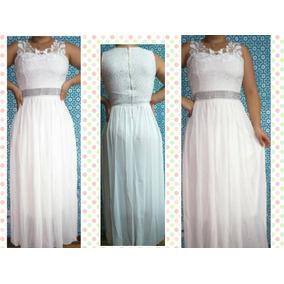 Vestido De Noiva Longo Civil, Simples E Elegante - Barato
