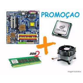 Kit Placa Mãe Gigabyte + Core 2 Duo + 4gb + Cooler
