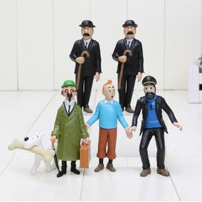 Kit 6 Bonecos As Aventuras De Tintim Brinquedos