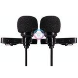 Microfono Doble Solapa Lavalier Iphone Android Camara 1.5mts