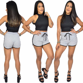 Conjunto Short Fenda Cropped Bojo Bruna Marquezine Blogueira