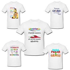 Camisa Branca De Carnaval Bloco - Camisa Casual no Mercado Livre Brasil 7fad742153833