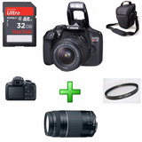 Canon Rebel T6 18-55mm + Ef 75-300mm + Bolsa + Uv + 32gb
