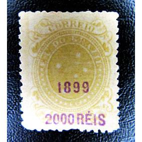 Selo Brasil Cruzeiro Do Sul Sobrecarga Denteação 2000rs 1899
