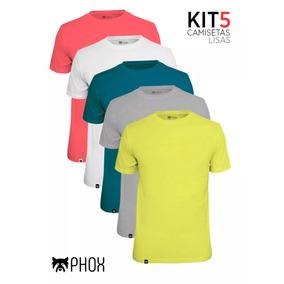 5 Camisetas Masculina Lisas Phox Basica - Tamanho P Ao G4