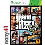 Grand Theft Auto V Juego Consola Xbox 360 Gta V Five