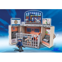 Estação De Policia Game Box Playmobil 5421 Original 63 Pçs