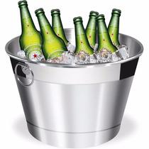 Balde De Gelo E Cerveja Em Alumínio Reforçado 6 Litros