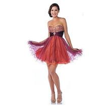 Vestido De Noche Fiesta Posada Coctel M Mca.princesa Divina