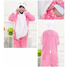 Kigurumi Pijama Adulto Plush Hello Kitty Rosa Importado Usa