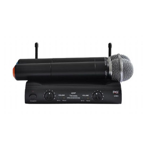 Microfone Sem Fio Duplo Mão / Mao Uhf 585 Profissional Jwl