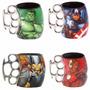 Conj 4 Caneca Soco Inglês Vingadores Thor América Hulk Ferro