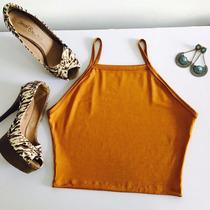 Kit Atacado 2 Cropped Tirinha + 2 Vestidos Tirinha Moda Blog