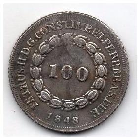 Moeda 100 Reis 1848 Ref 528 Replica Rara