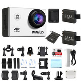 Wimius 4k Fhd 1080p Deportes Acción Wifi Cam Impermeable