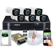 Kit Cftv 6 Câmeras Full Hd 1080p 2mp Dvr Intelbras Mhdx 1108