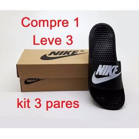Kit Chinelo Masculino Nike 3 Pares Varias Cores Atacado Novo