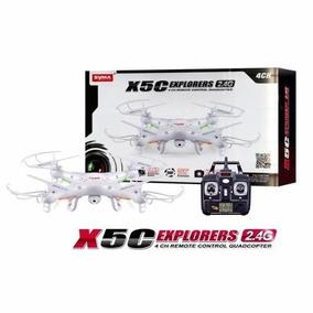 Drone Syma X5c Com Camera Filma E Tira Foto Helicoptero