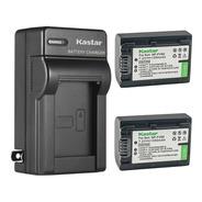 Cargador + 2 Baterías Sony Np-fv50 Fv30 Sr15 Ax100 Kastar